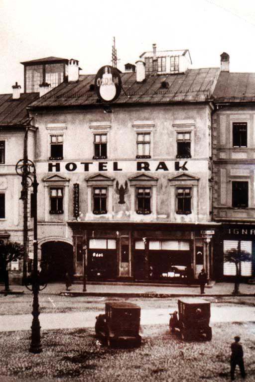 hotel Rak v roku 1928